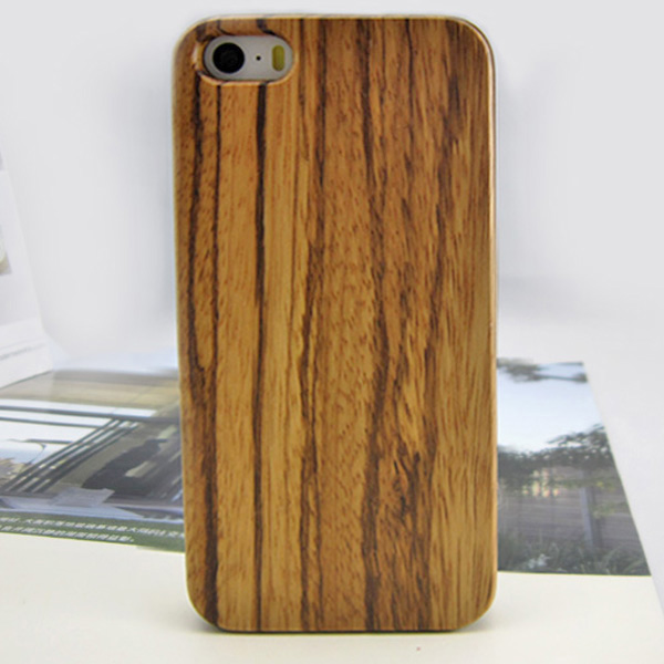 Zebra wood phone shells for iPhone 5 custom cover case hard back cover