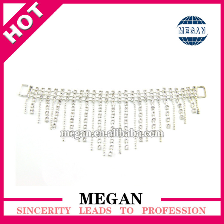 Rhinestone swimwear accessories connectors for competition suits