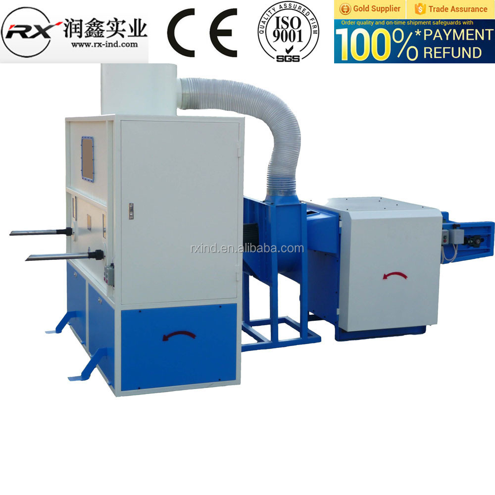 Pillow/Toy/Cushion polyester fiber filling machine running well in the <strong>U</strong>.S.