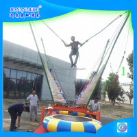 Single Outdoor Playground Bungee Trampolines For