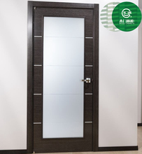 High quality mdf pvc wooden glass wood door for bathroom, toliet and bedroom