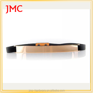 fashion metal custom ladies gold stretch belts for sale