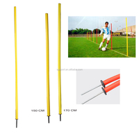 150cm fixed spike agility Slalom Poles , soccer training poles
