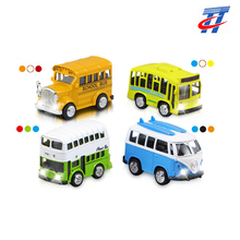 Die cast mini scale bus school bus metal model double-decker bus