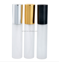 Fine Quality Mist Spray Glass Bottle 10ml Frosted Aluminum Traveler Glass Perfume Spray Atomizer