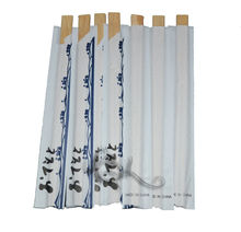 Disposable wooden and bamboo chopsticks for eating take-out