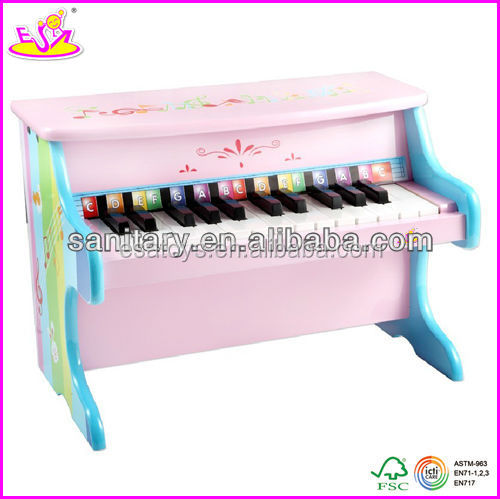 2015 Hot sale high quality wooden toy used piano for baby, new and popular used piano for kids W07C012-2
