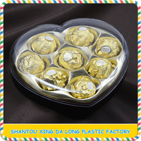 Plastic chocolate packaging heart shape gift box
