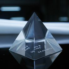 glass pyramid crystal pyramid paperweight