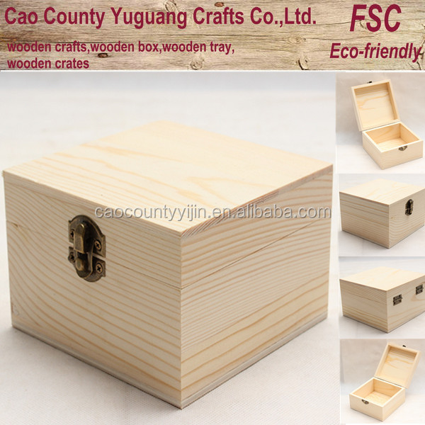 Top grade many use packing wooden box with bronze latch for Uses for wooden boxes