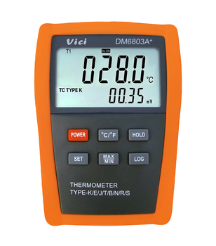 DM6803A+ large lcd display digital thermometer data logger