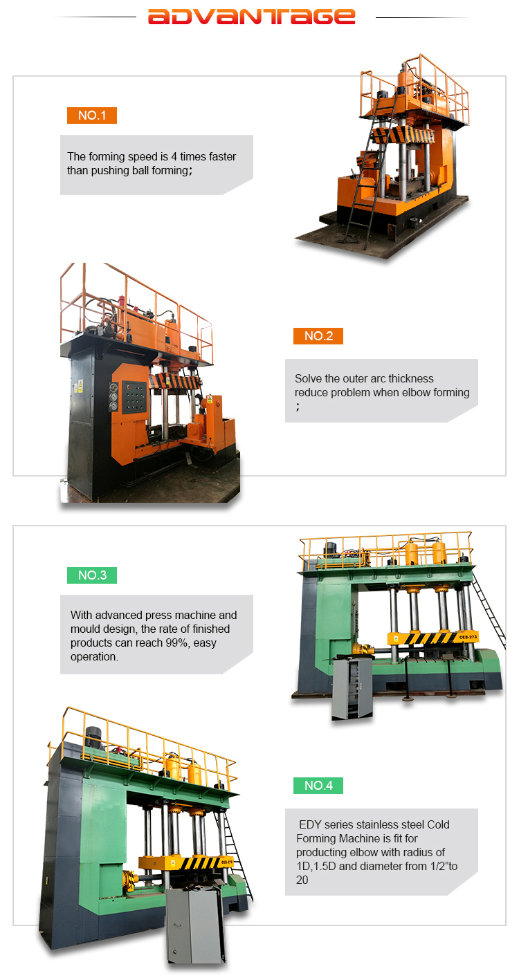 Supply made in china elbow cold forming machine