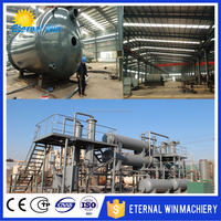 Tire oil distillation plant, waste oil to diesel fuel refinery equipment/machine