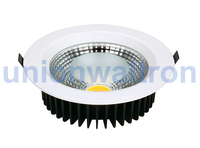 dimmable 12w led downlight recessed high power 10w 15w cob led downlight led einbauleuchten flach downlight