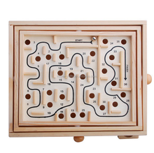 Table's top hand visits toys kids brain develop wooden maze