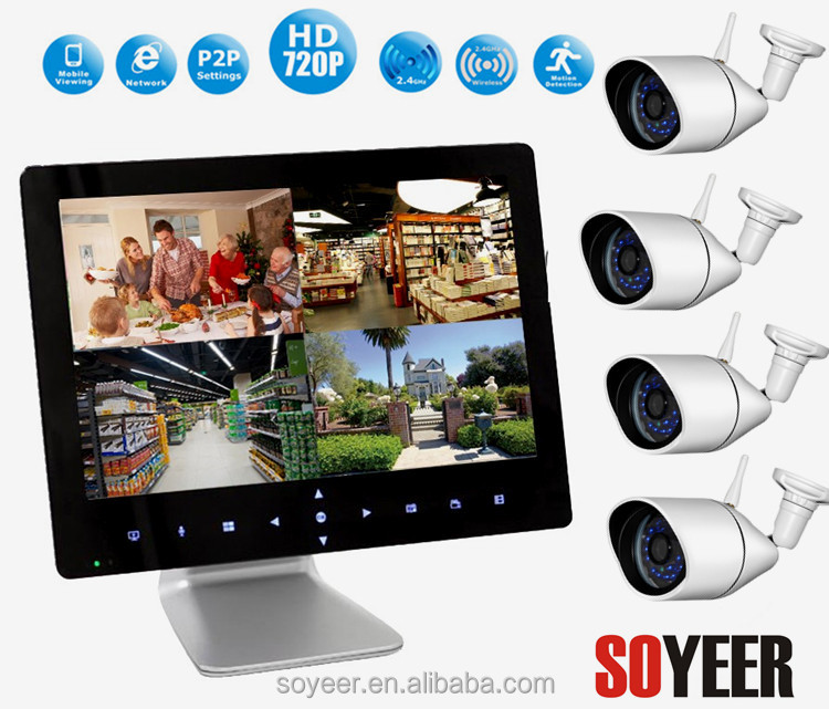 Wireless Lcd Dvr Kit Wireless Spy Camera Soyeer Sly092-C094 9 Inch Touch Pad Wd1 Resolution Cctv Dvr