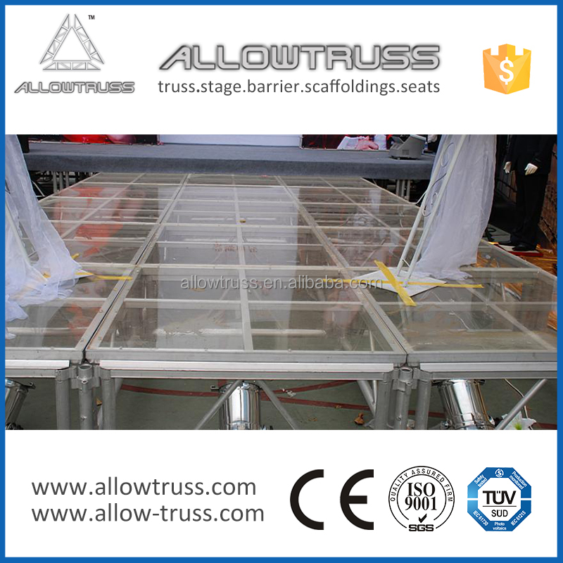 AllowTruss 2.44*2.44m or customized acrylic stage platform
