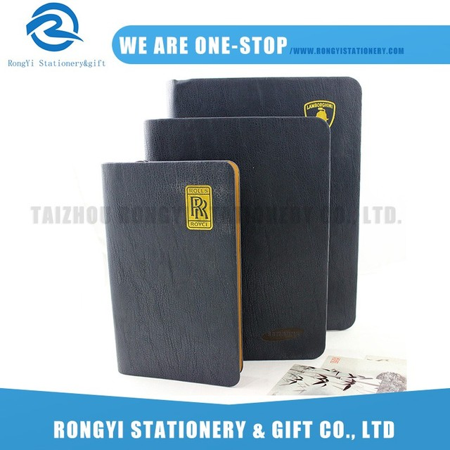 Professional made office stationery pu luxury ring binder 2017 diary planner