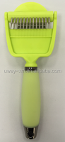 Silicon gel handle 2-in-1 de-shedding comb