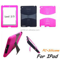 hybrid heavy duty combo hard kickstand cover case for ipad mini