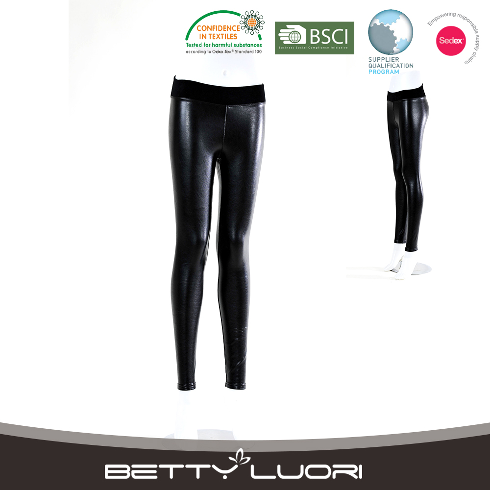 High Quality Popular Cheap mature sexy pictures leather leggings for women