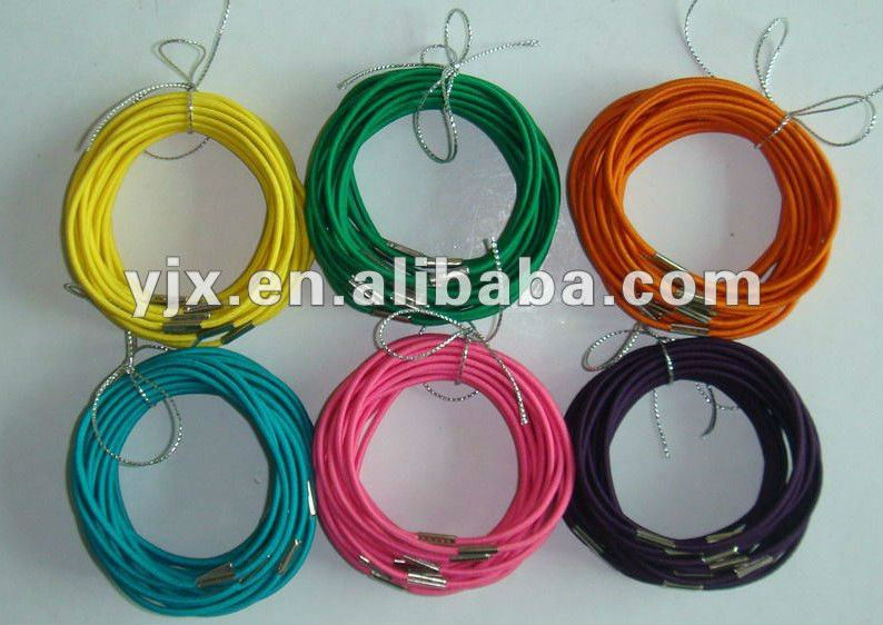 Heavy Duty Colored Elastic Loop Hair Rubber Band