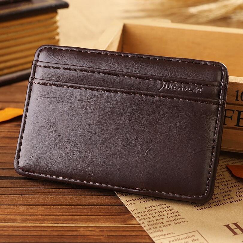 promotion fashion brand magic wallet man business card holder