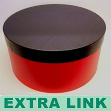 Round shape easy open peel-off tube black red printing paper box