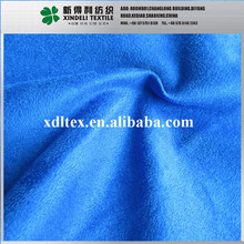 High quality blue color woven 100%polyester elephant suede fabric