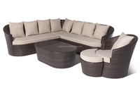 088 curved outside outdoor sectional rattan corner sofa set luxury garden furniture