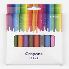 Factory Price Non-toxic 10 Pieces Jumbo Crayon Gift Box Package