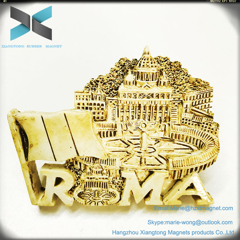 Wholesale new design attractive Roma tourist souvenir 3d scenery fridge magnet