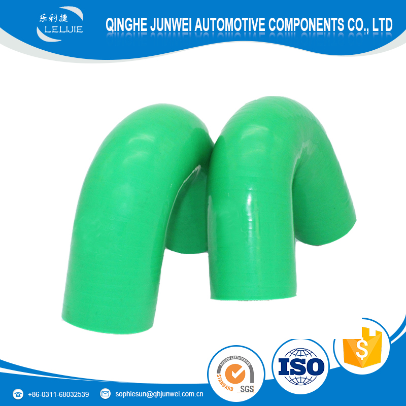 Heat resistant oil resistant three layers of reinforcement fabric 30/45 degree elbow silicone hose