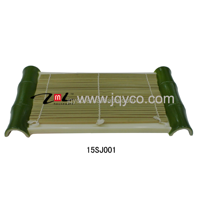 customized CHEAP bamboo woven sushi tray for promotional
