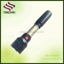 Newest design Best price LED COB LED magent dual working light flashlight torch