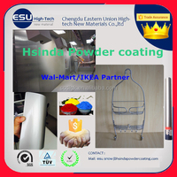 Wal-mart Furniture chinese indoor smooth glossy silver metallic epoxy polyester spray powder coating paint powders