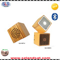2017 top selling hand crafted cube wooden mini bluetooth speaker BSW21
