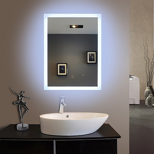 Modern 3d led lighting bathroom mirror for hotel