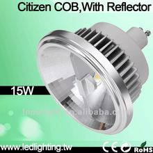 Typical Citizen COB LED ar111 gu10 led bulb with ce&rohs