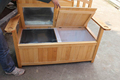 Outdoor Wooden chair cooler box