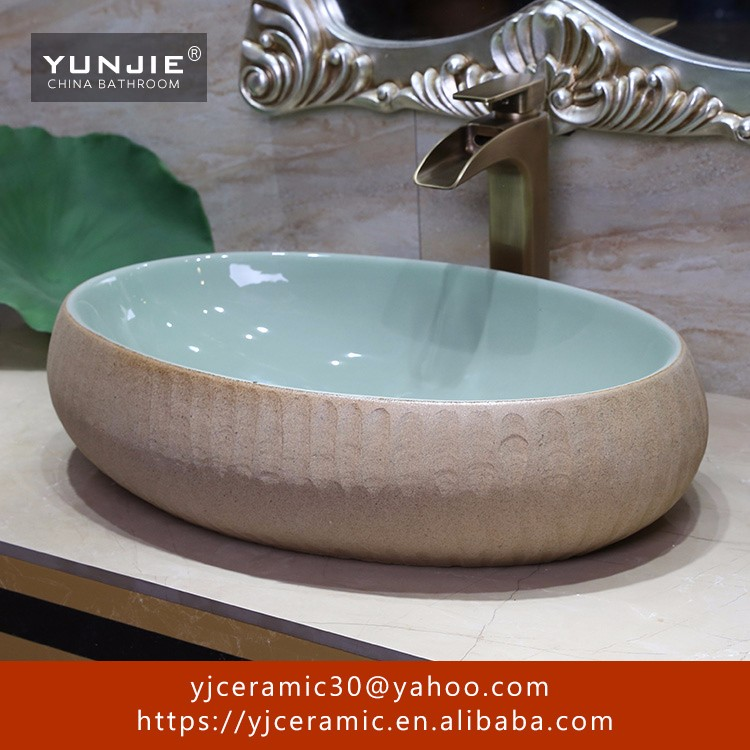 river stone sink ceramic commercial one piece porcelain bathroom basin