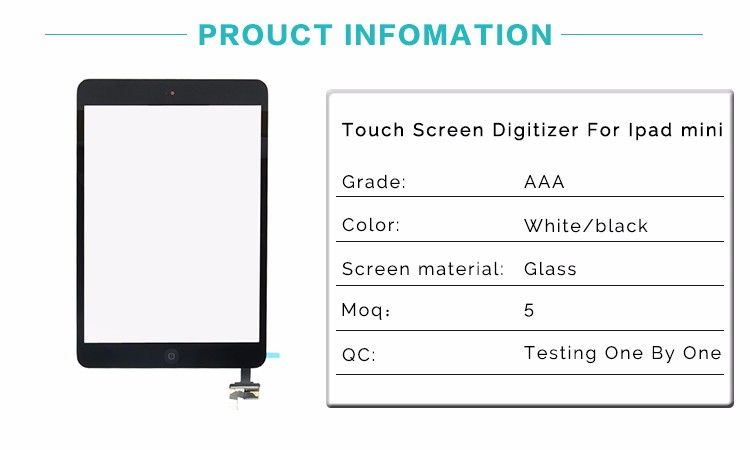 Professional Manufacturer Best Quality Touch Screen Digitizer For Ipad Mini