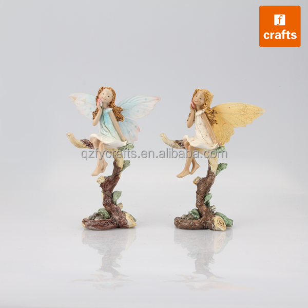 Resin hand carved little angels child merry angels models