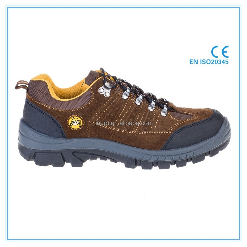 Good quality suede leather upper dual density PU outsole safety footwear