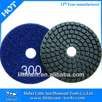 "3""/80mm 300 grit diamond buffing pads for stone grinding"