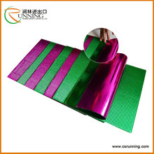 Fancy metallic corrugated paper colorful cardboard sheets for kids craft