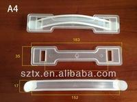 163mm transparent plastic cardboard handle