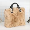 wholesale newest pictures lady fashion handbag fashionale rabbit fur bag on alibaba china