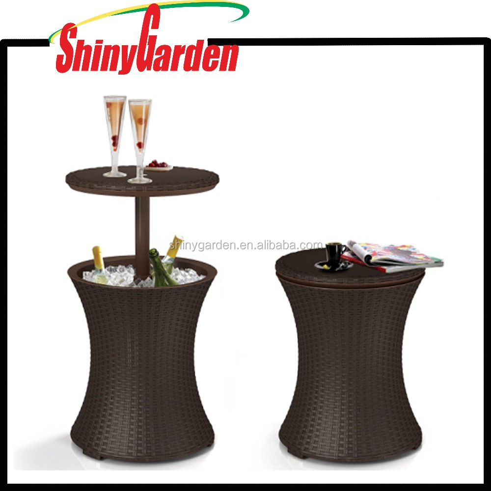 Wicker Cool Bar Rattan Style Outdoor Patio Pool Ice Cooler Dining pool Table