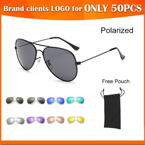 wholesale 14 colors free sample small order polarized lens aviat classical sunglasses cat 3 uv 400 mirror sun glasses 2017